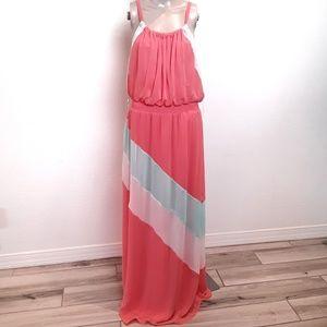 Maurices   Coral Maxi Dress Medium